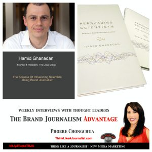 Hamid Ghanadan on The Brand Journalism Advantage Podcast