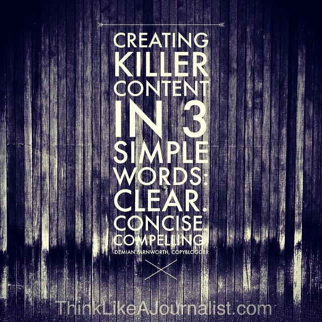 word photo with three words to create killer content