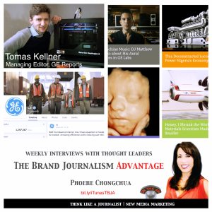 Tomas Kellner on The Brand Journalism Advantage collage of stories