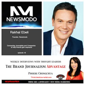 Interview with Rakhal Ebeli on The Brand Journalism Advantage Podcast (photo collage)