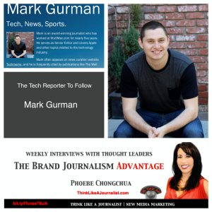 Mark Gurman on The Brand Journalism Advantage Podcast