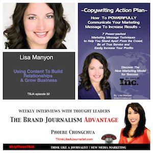 Lisa Manyon on The Brand Journalism Advantage Podcast
