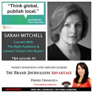 Sarah Mitchell on The Brand Journalism Advantage Podcast