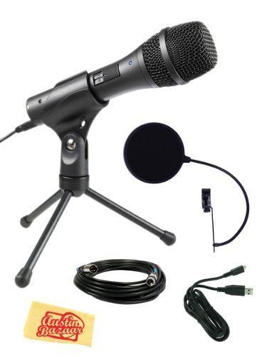 Audio-Technica AT2005USB Cardioid Dynamic USB/XLR Microphone