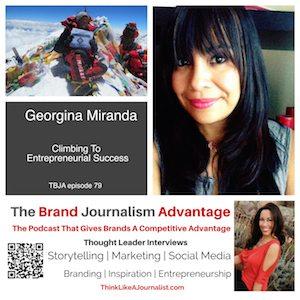 Georgina Miranda on The Brand Journalism Advantage Podcast
