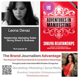 Leona Devaz on The Brand Journalism Advantage Podcast