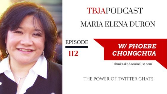 The Power of Twitter Chats, Maria Elena, Duron, TBJApodcast 112
