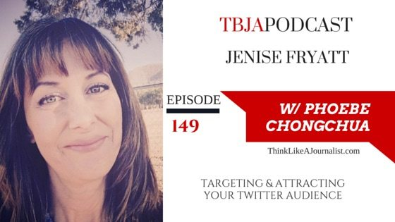 Targeting & Attracting Your Twitter Audience, Jenise Fryatt, TBJApodcast 149