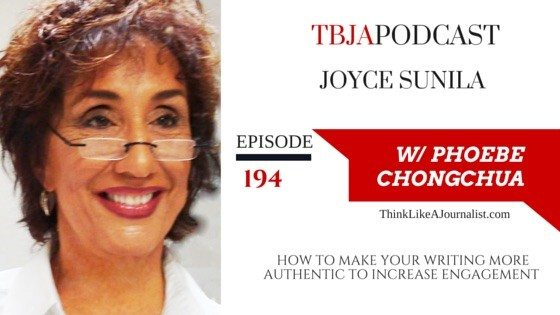 How To Make Your Writing More Authentic To Increase Engagement, Joyce Sunila, TBJApodcast 194