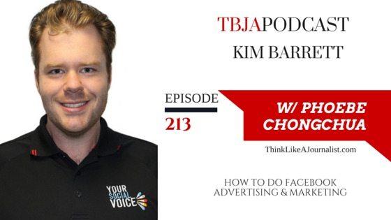 Facebook Marketing & Advertising Tips, Kim Barrett, TBJApodcast 213