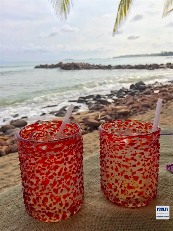 Margaritas on the beach in Punta Mita, Mexico PCIN.TV