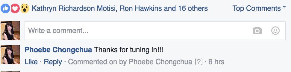 Phoebe Chongchua First FaceBook Live